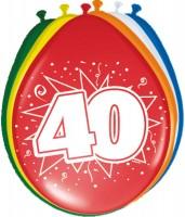 8 Ballons zum 40.Geburtstag 30cm