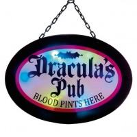 Draculas Pub Türschild 47cm