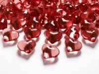 30 Kristall Streudeko Herzen rot