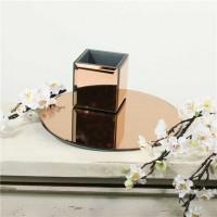 Runder Spiegelteller roségold 30cm