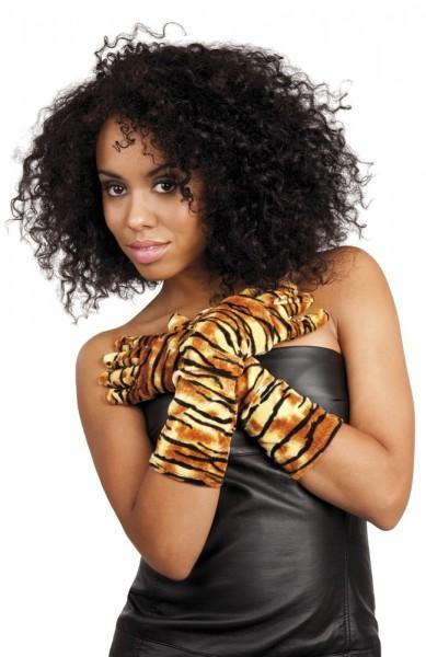 Elegante Tiger Handschuhe