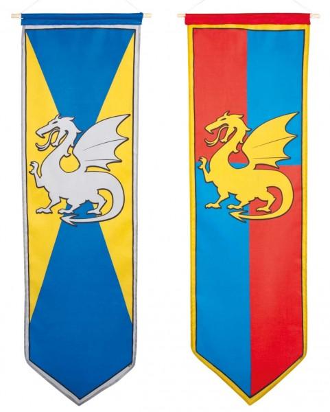 Ritterflagge Drachen 100 x 30cm
