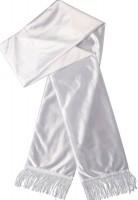 Weißer Satin Schal