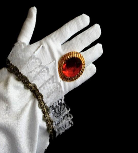 Victoriaanse ring met edelsteen