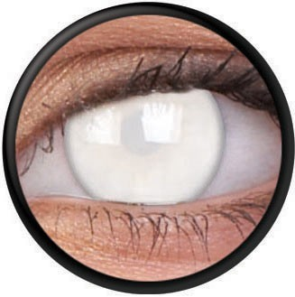 Weiße Kontaktlinse Blind White
