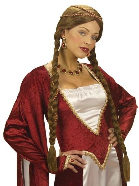 Mittelalterliche Burgfrauen Perücke Für Damen