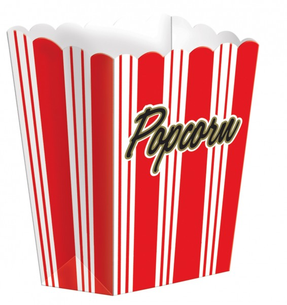 8 Retro Hollywood Popcorn Snack Boxen