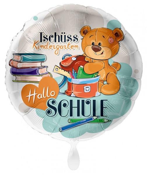 Hallo Schule Folienballon Bär 43cm
