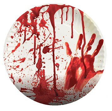 8 Bloedbad papieren borden 23 cm