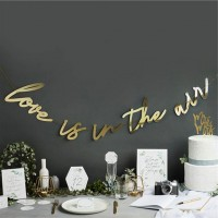 Love is in the Air Girlande gold 2m
