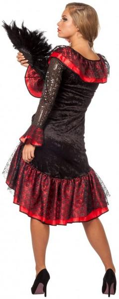 Spanisches Flamenco Tänzerin Kleid Rot