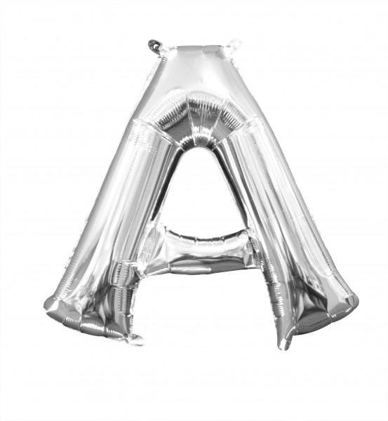 Lettera in mongolfiera mini A argento 35cm