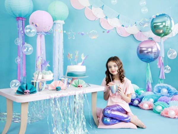 6 Mermaid Princess Pappbecher 220ml 8