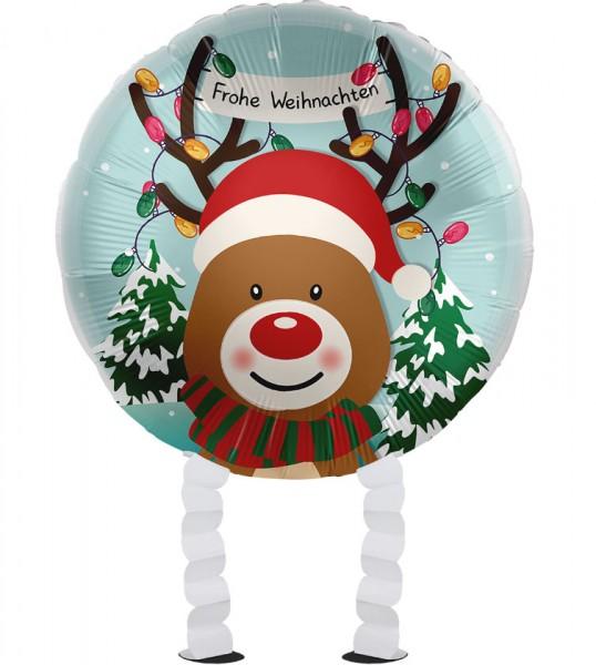 Reindeer Airwalker Foil Balloon 43cm