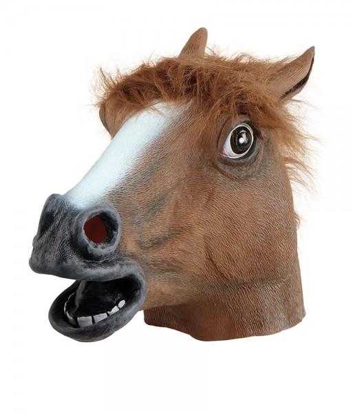 Braune Pferdekopf Vollmaske