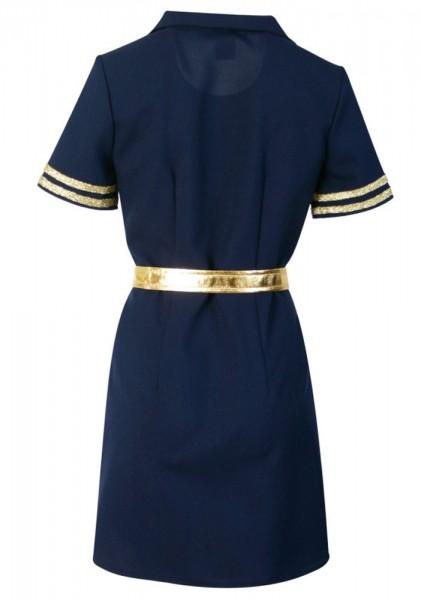 Klassisches Pilotinnenkleid Mit Gürtel