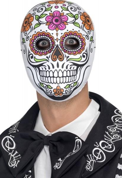 Masque fleuri Dia De Los Muertos
