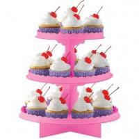 Cupcake Ständer 3-stöckig pink
