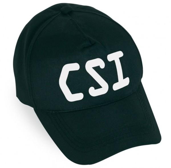 Schwarze CSI Cap - Größenverstellbar