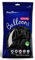 10 Partystar Luftballons schwarz 27cm