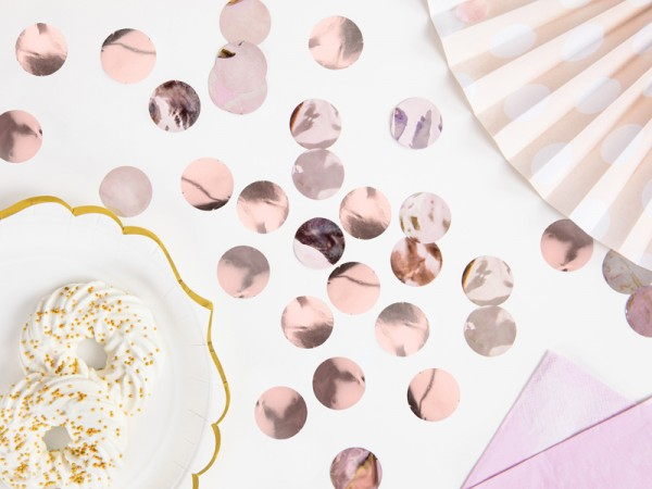 Confeti oro rosa 15g
