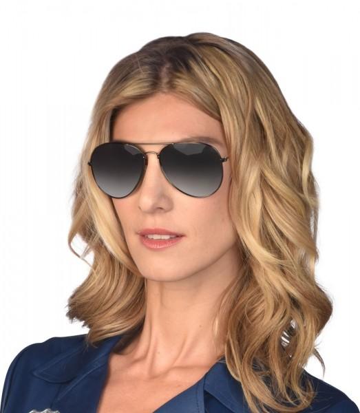 Verspiegelte Pilotenbrille schwarz