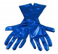 Handschuh in Metallic-Blau