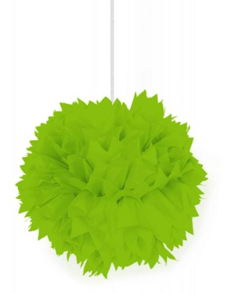Neongrüner Dekoball Pompon 30cm