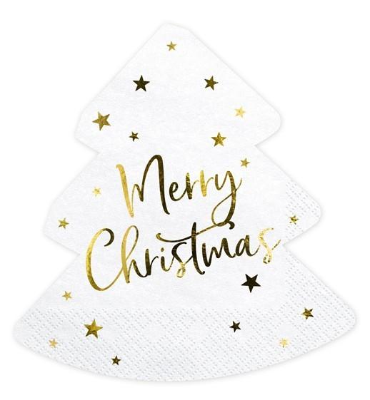 20 serviettes sapin de Noël 30,5 x 32,5 cm