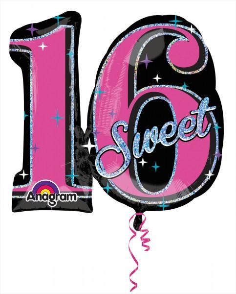 Sweet Sixteen Folienballon 71 x 66cm