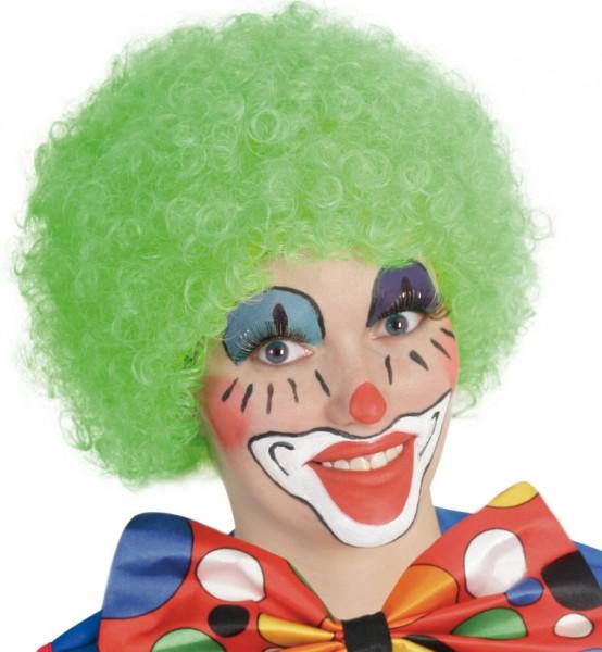 Afro Clownsperücke grün