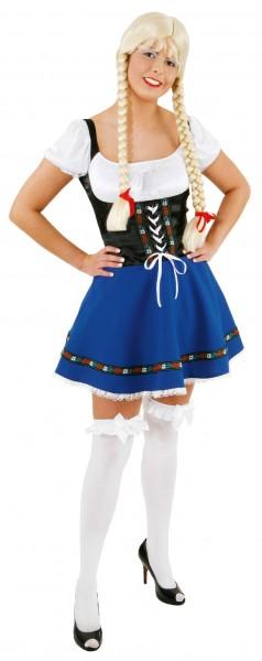 Blaues Dirndl Kostüm Yasmine