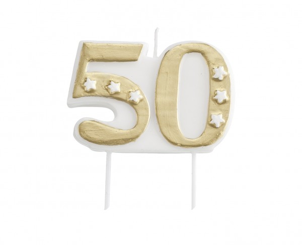 Congratulations to the 50th anniversary cake candle silver