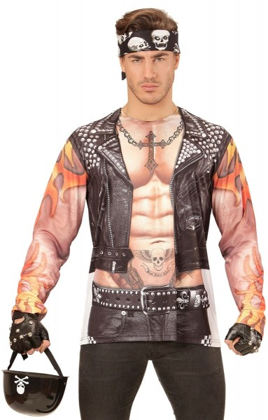 Biker Bad Boy 3D-Shirt