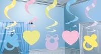 Welcome Baby Pastell Wirbel Hängedekoration