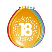 8 Ballons Happy 18 Dots 30cm