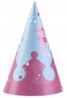8 Partyhüte Sei eine Meerjungfrau