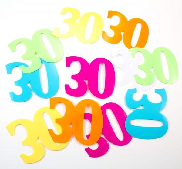 12 Streudekozahlen XL 30 Geburtstag
