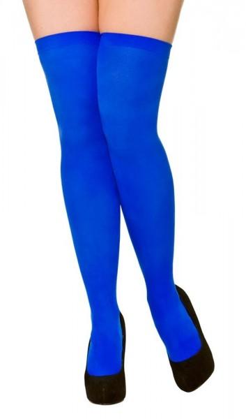 Blaue Overknee Strümpfe