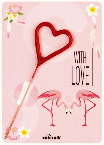 Con Amore Flamingo Wondercard