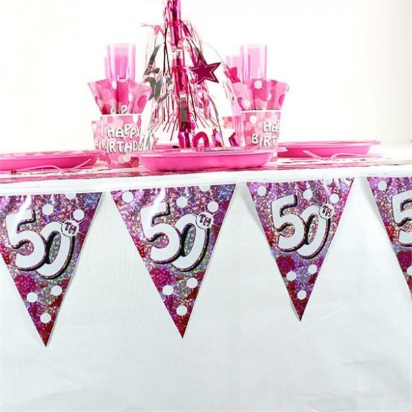 All about my 50th Birthday pennant chain 4m
