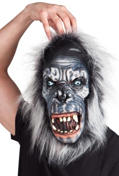 Gorilla Freak Latex masker met bont