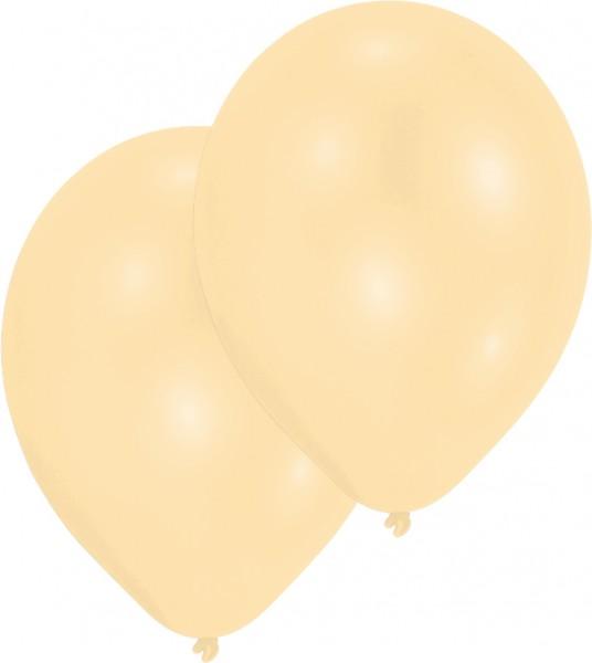 10er-Set Luftballon Elfenbein Perlmutt 27,5cm