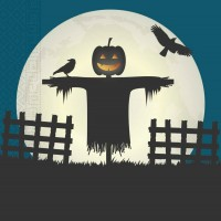 20 Halloween Scary Moon Servietten 33x33cm
