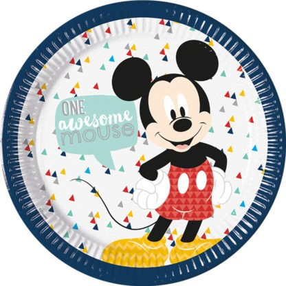 8 Awesome Mickey Mouse Teller 23cm