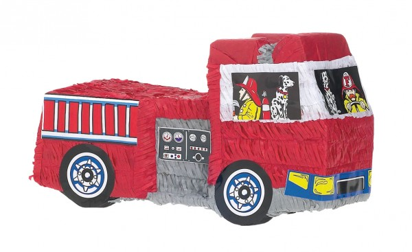 Fire engine birthday pinata 48cm