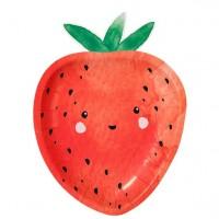 12 Erdbeer Partyteller 23cm