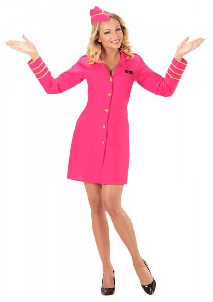 Pink flight attendant jacket Abby