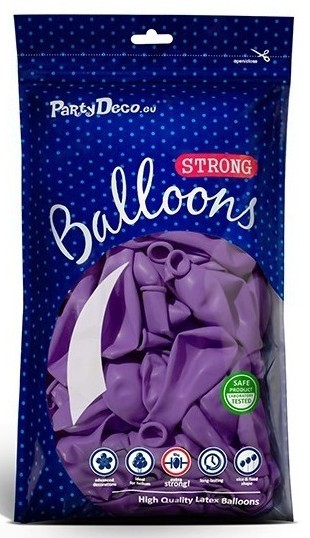10 Partystar Luftballons lila 30cm