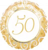 Zahl 50 Folienballon gold
